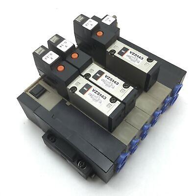 Lot Of 3 Smc Vz5143 Solenoid Valve 2-position 5-port Voltage 24vdc 10mm 8mm