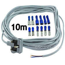 UNIVERSAL 2 Core Extra Long 10m Mains Cable Plug for Corded Electric Power Drill