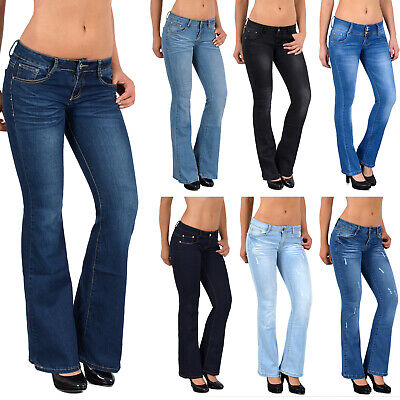 Damen Bootcut Jeans Damen Jeanshose Bootcut Schlaghose Hüftjeans Top Modelle G40 Damen Bootcut-hose