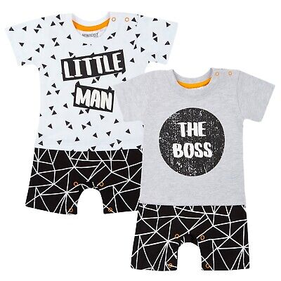 Baby Boys Short Romper Body Suit T-Shirt + Shorts Outfit Babies Newborn Gift