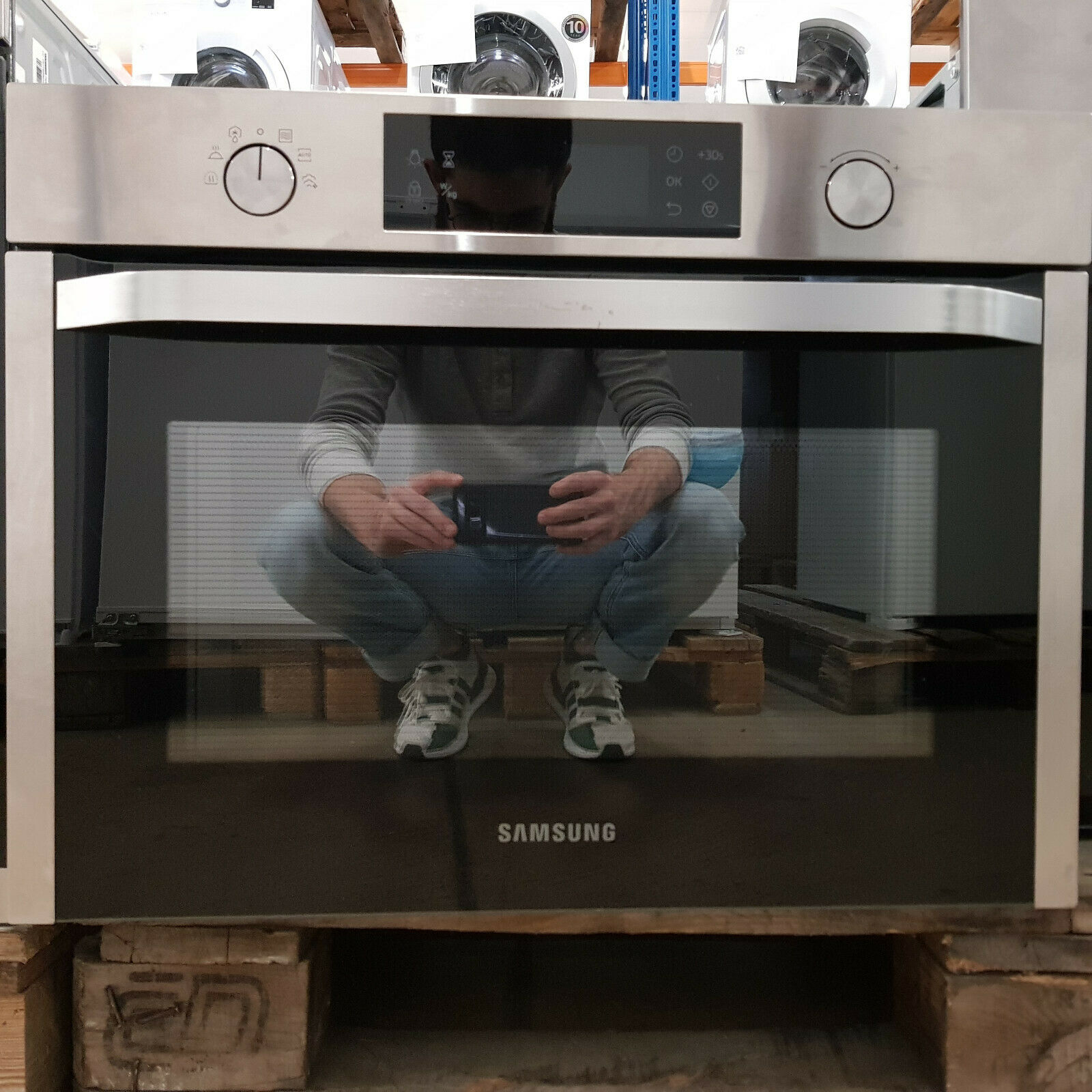 Samsung Einbau-Mikrowelle SOLO 50 L Edelstahl 20 Programme NQ50K3130BS B-Ware*
