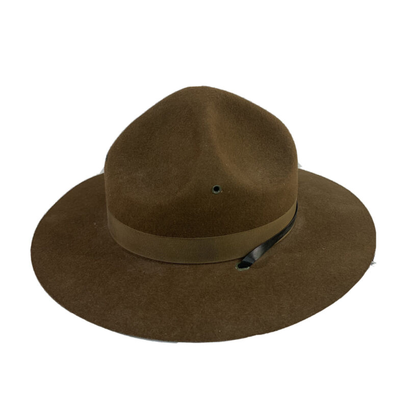 Vintage CAMPAIGN Scout Leaders Hat Size 6-3/4 100% Wool