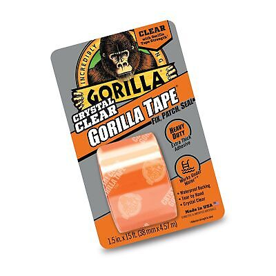 """Gorilla Crystal Clear Duct Tape, 1.88"""" x 5 yd, Clear, (Pack of 1) 1 Pack"""