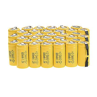 Neu 36pcs Ni-Cd 1.2V 2/3AA 600mAh wiederaufladbare batterie NiCd Batterien
