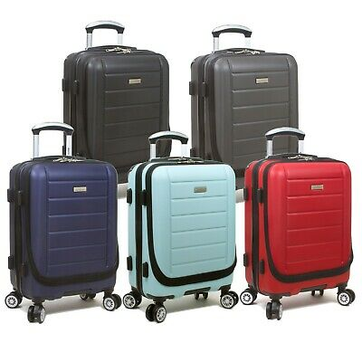 Dejuno Compact Hardside 20-Inch Carry-on Luggage with Laptop