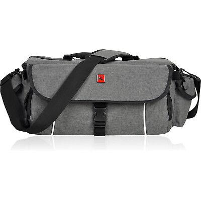 Kameratasche KEANU Fototasche Cambridge Pro DSLR Go Tasche XL Foto Video GRAU