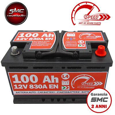BATTERIA AUTO SPEED L4 100 Ah 830A = FIAMM 90 95 DX + PRONTA ALL'USO
