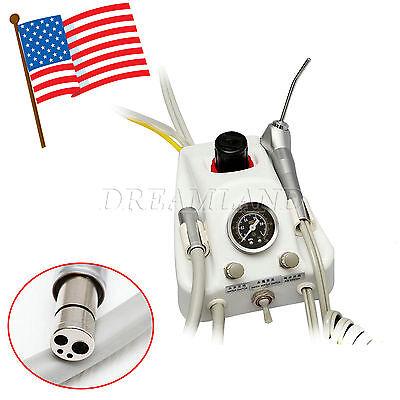 Portable Dental Turbine Unit Work W Air Compressor 3 Way Syringe Handpiece 4h Jp