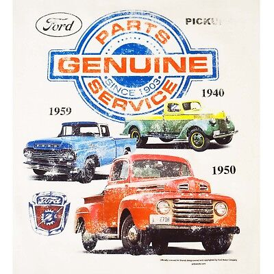 - Ford Truck T Shirt F1 Pick Up Vintage Genuine Ford Parts Small to 6XL and Tall