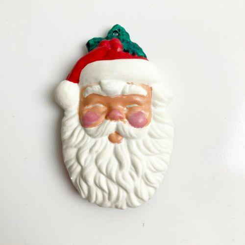 Ceramic Mold Santa Claus Xmas Ornament Hand Painted Christmas