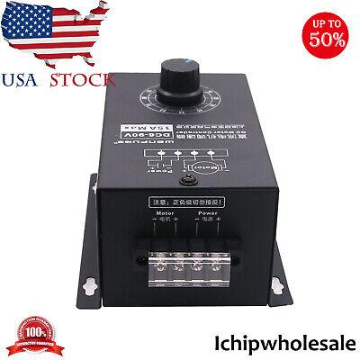 Dc6-90v Motor Speed Regulator Pwm Module 15a Digital Controller Switch Display I
