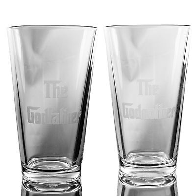 16oz The Godfather and The Godmother Beer Mugs (Both Mugs)