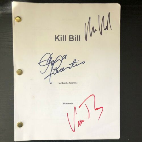 KILL BILL Vol. One AUTOGRAPHED Screenplay Uma Thurman Quentin Tarantino Script