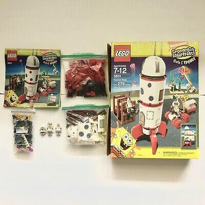 Lego 3831 Spongebob SquarePants Rocket Ride Complete Set W/ Minifigures Manual
