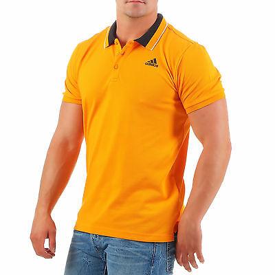 Golf Climalite (Adidas Polo Shirt Poloshirt Herren Climalite Orange Golf AK1760 Gelb S-XL NEU 3S)
