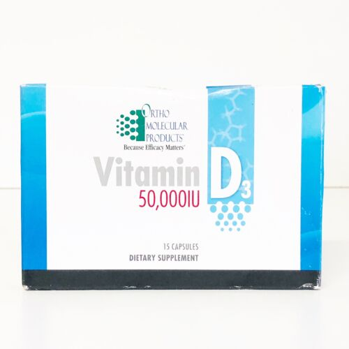 Ortho Molecular Products Vitamin D 3  50,000 IU one 15 capsules Exp 6/22