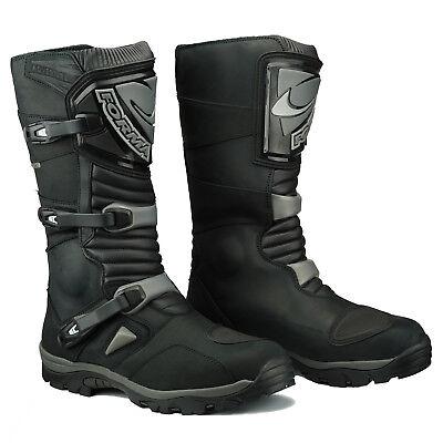 Forma Adventure Leather Enduro Waterproof Motorcycle Boots Black RIDE BEST