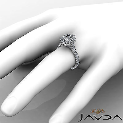 2.5 ct Oval Diamond Engagement 14k White Gold F VS2 Clarity GIA Halo Pave Ring 4
