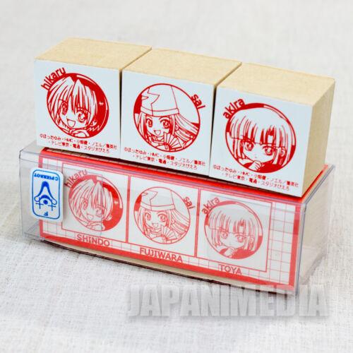 Hikaru no Go Hikaru Shindo Sai Fujiwara Akira Toya Stamp Set JAPAN