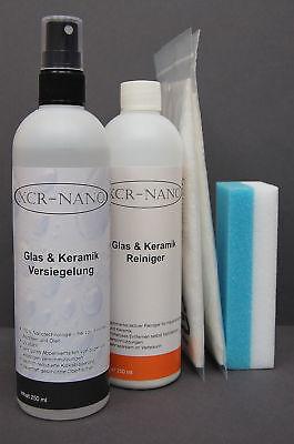 Nanoversiegelung Glas,Dusche,Fliesen + Reiniger 250/250ml Set Nano Versiegelung