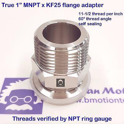 True 1 Male Npt X Kf25 Flange Stainless Steel 304 Vacuum Adapter Mnpt