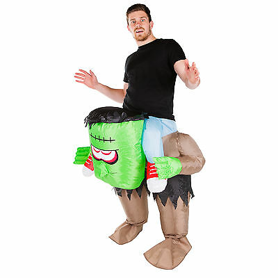 Adult Inflatable Scary Frankenstein Monster Fancy Dress Costume Outfit - Scary Monster Kostüm