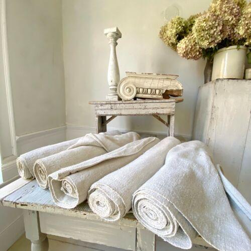 22.15 yards antique hemp linen bolts complex weave Upholstery fabric HEAVY