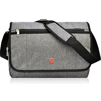 Umhängetasche Keanu Damen Herren Arbeits Laptop Messenger Bag Notebook Grau