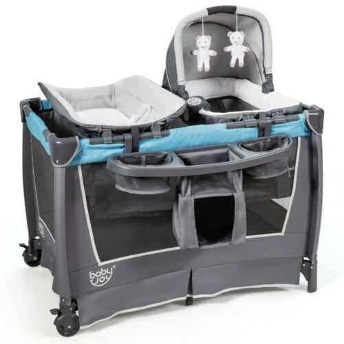 Baby Crib Mobile Bassinet Portable Infant Playpen Nursery Bed Cradle Playard New