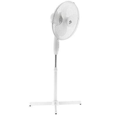 """16"""" Free Standing Oscillating Pedestal Fan 3 Speed Variable Height & Tilt White"""