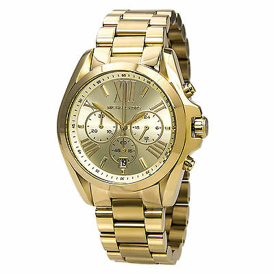 Michael Kors MK5605 Women's Bradshaw Gold Plated Chronograph Watch
