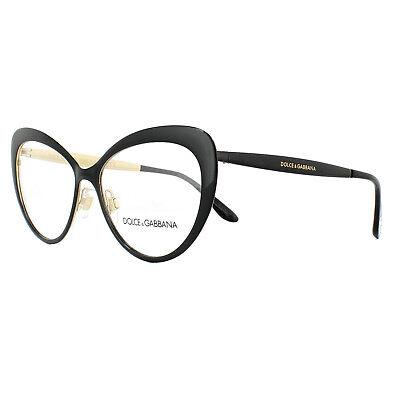 Dolce & Gabbana Glasses Frames DG 1294 01 Black Gold 54mm Womens