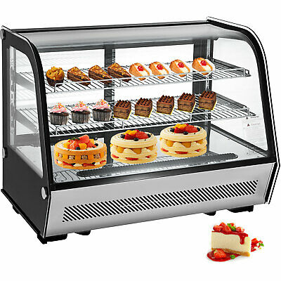 Commercial Countertop Refrigerator 160l Stainless Steel Cake Display Cooler Case
