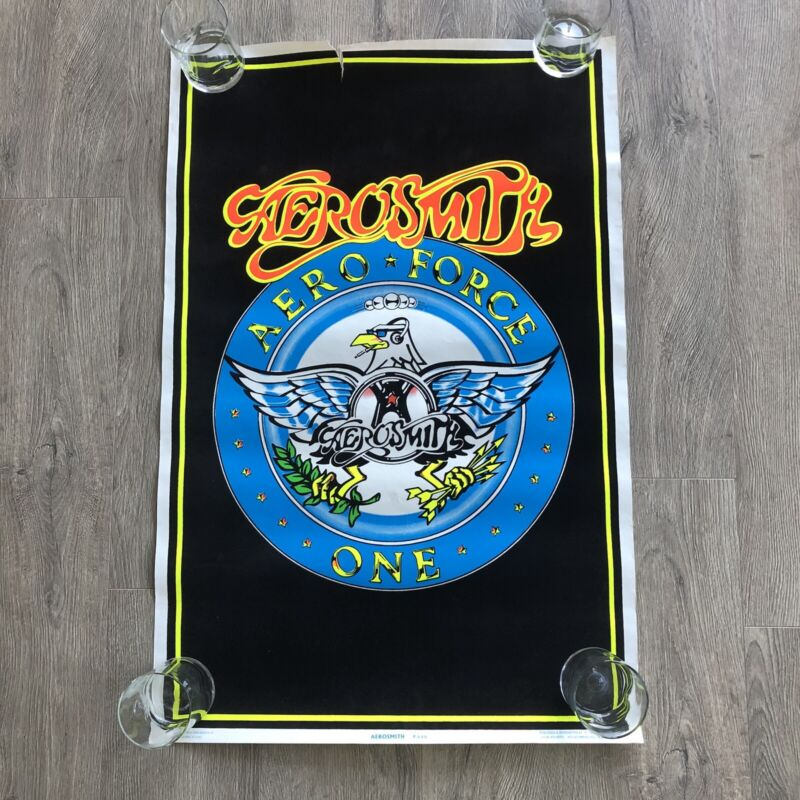 """Vintage Aerosmith Concert 1994 Blacklight Poster #846 FUNKY Air Force One 23x35"""""""