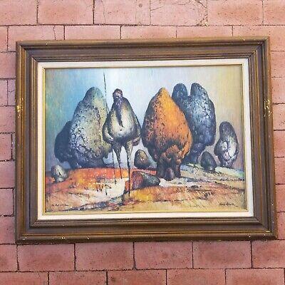 Ainslie Roberts Art Print The Ant Hill Man Vintage Framed Aboriginal Australia