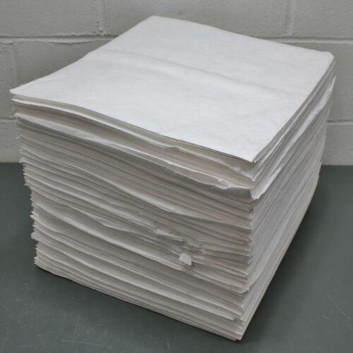"(100) Spilfyter Absorbent Pads SFO-72BX, 16"" x 18"", Oil Sorbent Sheet, White"