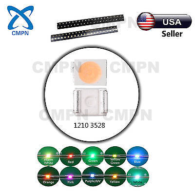 1210 3528 Led Chip Smd Smt Rgb Warm White Red Yellow Blue Light Diodes Mix Kits