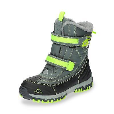 Stiefel Kinder Schwarz (Kappa wasserdichter Kinder Jungen Winterstiefel Snowboots Stiefel Schuh schwarz)