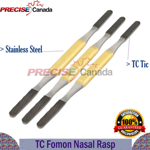 TC Fomon Double Ended Nasal Rasp Set Of 3Pcs For Orthopedic Instruments