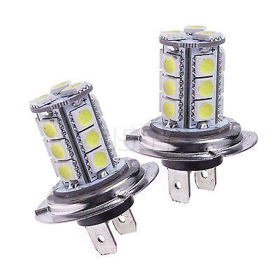 2 stk h7 18 smd 5050 led auto led birne licht lampe 12v xenon weiss. Black Bedroom Furniture Sets. Home Design Ideas