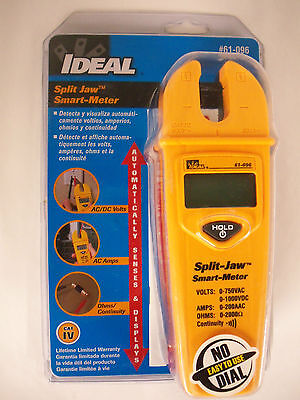 Ideal Split Jaw Automatic Smart Meter Multimeter Lifetime Warranty 61-096 New