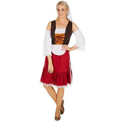 Frauenkostüm Mittelalter Magd Kostüm Frauen Karneval Fasching Halloween (Magd Halloween Kostüme)