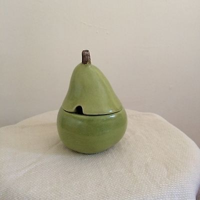 Ceramic pear signed by artist