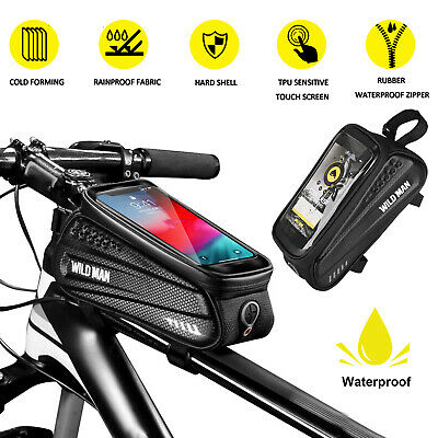Front Bicycle Frame Waterproof Bag Cycling Bike Tube Pouch H
