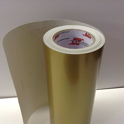 """Oracal 651, 1 Roll 12"""" x 300"""" Gold #091 Vinyl for Craft,Sign,Cutter"""