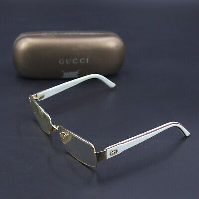 GUCCI Vintage Designer Glasses Frame 135 GG 2853 ER0 White Color with Case