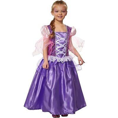 zessin Lavendela Kleid Märchen Film Rapunzel Karneval Fasching (Mädchen Märchen Prinzessin Kostüm)