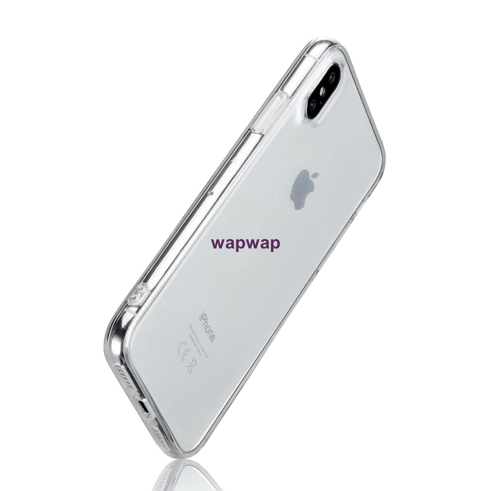 For Apple iPhone X XS Case Silicone Clear Bumper Gel iPhone 10 10S Cover 6