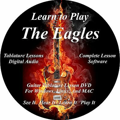 Eagles Guitar TABS Lesson CD 104 Songs + Backing Tracks + BONUS!