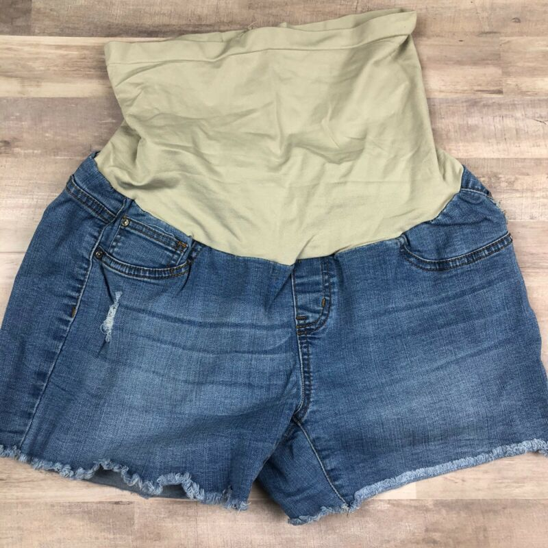 Vintage Violet Maternity Denim Shorts
